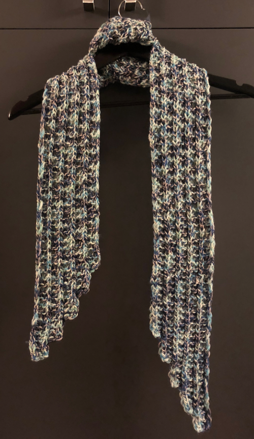 Step-by-Step Scalloped Scarf
