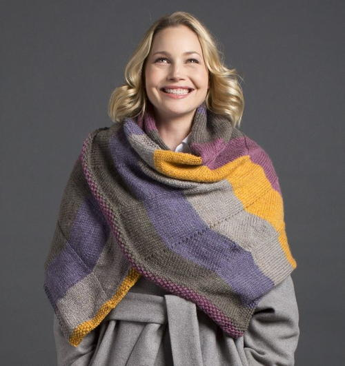 Winter Wildflower Knit Shawl Pattern