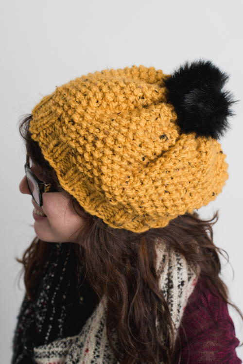 f6e86a85ed3 Black-Eyed Susan Knit Hat