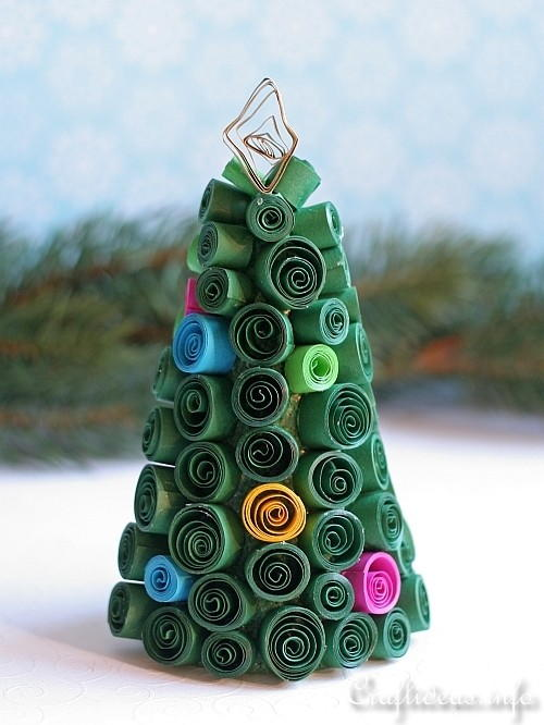 Quilled Paper Christmas Tree Craft for Kids
