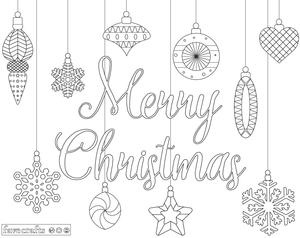 Elegant Ornaments Christmas Coloring Placemats
