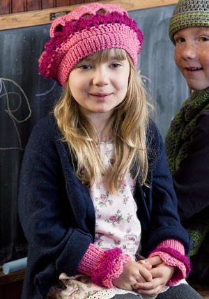 Berry Beret and Wrist Warmers