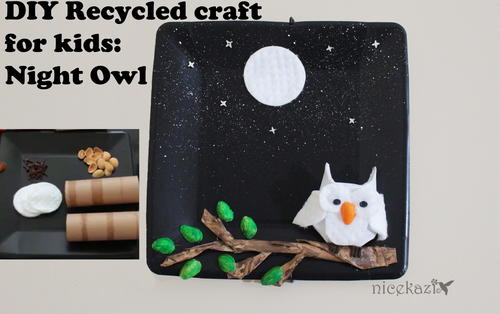 DIY recycled craft for kids: Night owl