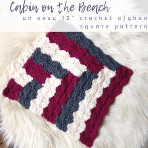 Cabin on the Beach Afghan Square