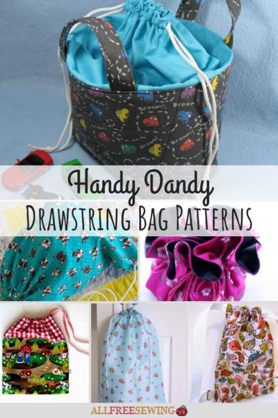 graphic regarding Handbag Patterns Free Printable named 28 Easy Dandy Drawstring Bag Models Tutorials