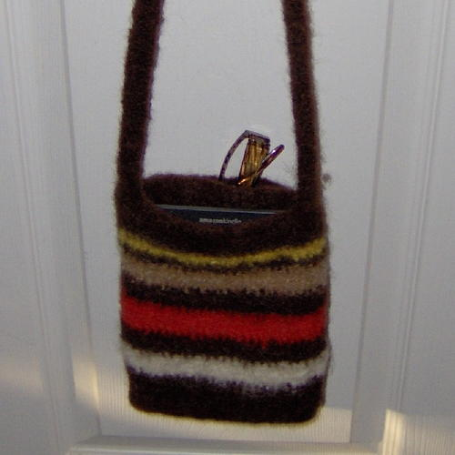 Felted Striped Reader Purse