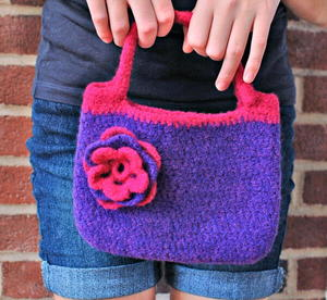 Pretty Little Felted Purse