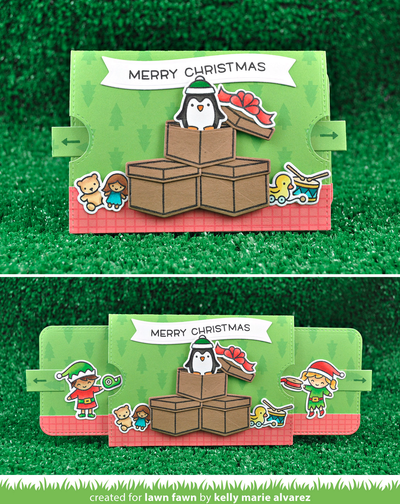 Cutest Christmas Elves Pull Tab Card