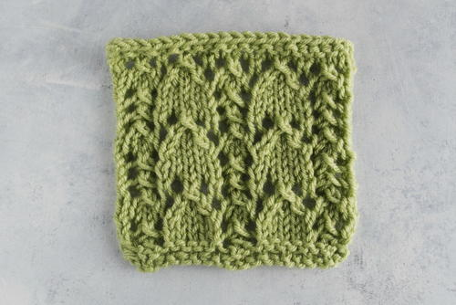 How to Knit the Snowdrop Lace Stitch