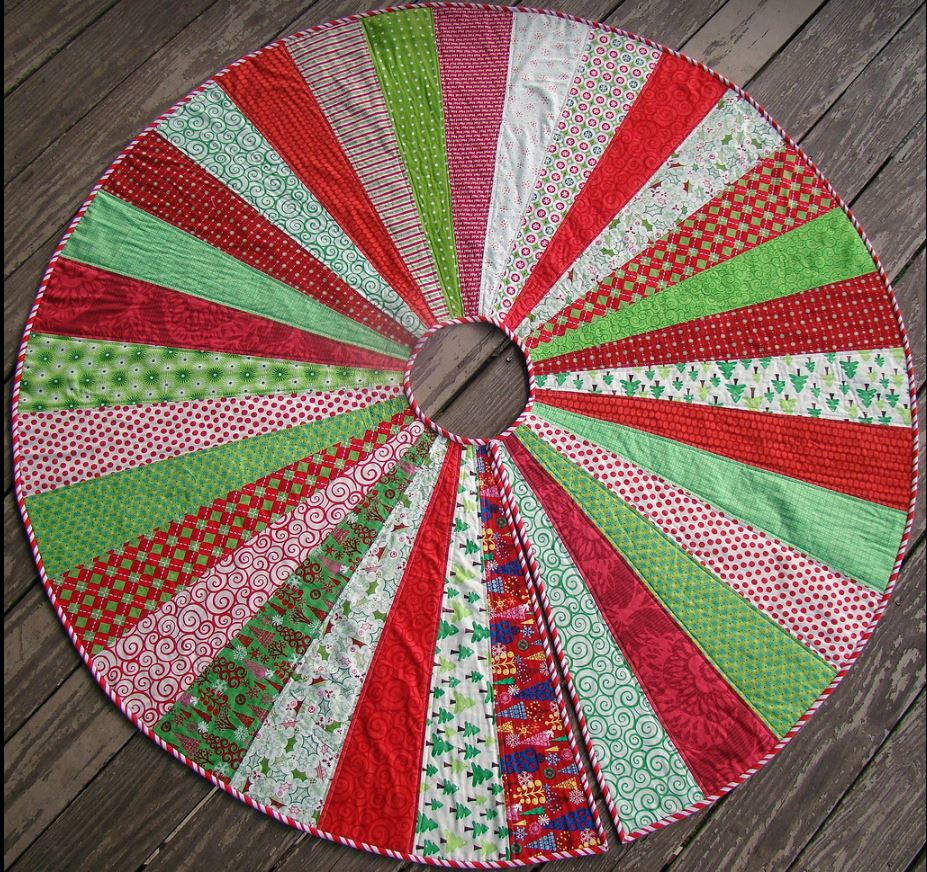 Quilted Christmas Tree Skirt Patterns: Giant Christmas Tree Skirt Quilt Pattern
