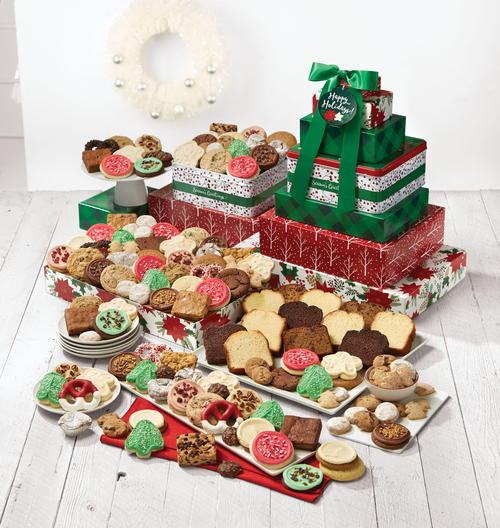 "Cheryl's Cookies ""Happy Holidays Deluxe Gift Tower"""
