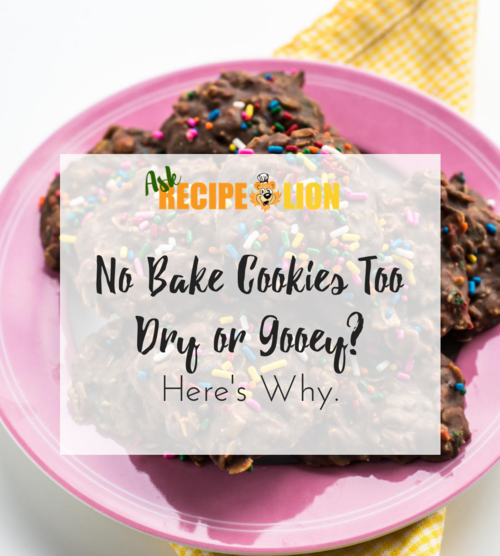 No Bake Cookies Too Dry or Gooey