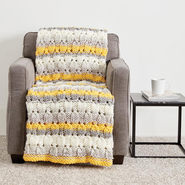 Patchwork Chunky Knit Blanket Pattern