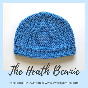 The Heath Beanie, a Quick & Easy Crochet Hat
