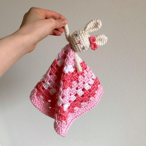 Bunny Rabbit Lovey Baby Security Blanket