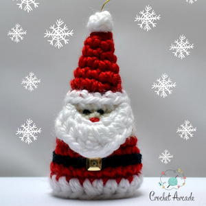 Santa Claus Christmas Ornament Crochet Pattern