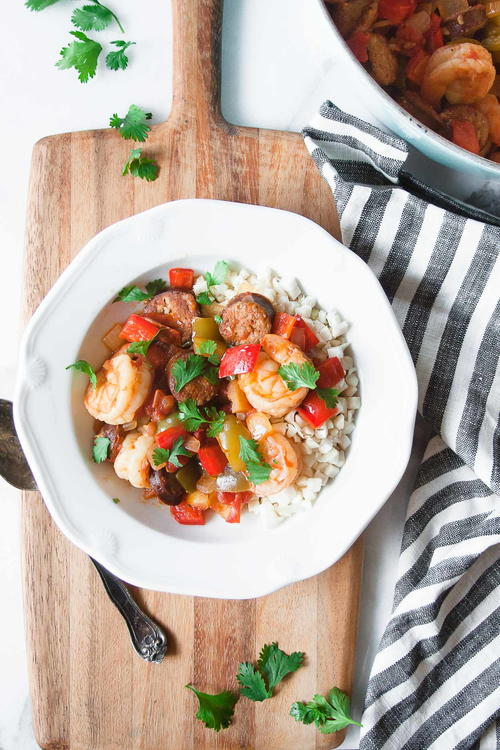 Whole30 Shrimp and Sausage Gumbo