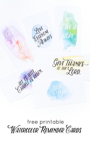 photo relating to Articles of Faith Printable Cards called Watercolor Religion Printables