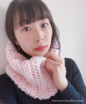 Cotton Candy Crochet Cowl