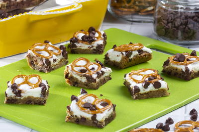 Pretzel Smores Chocolate Chip Bites