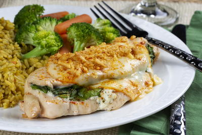 Cheesy Stuffed Herb Chicken