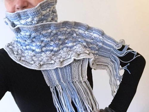 Knitted Daily Sky Scarf