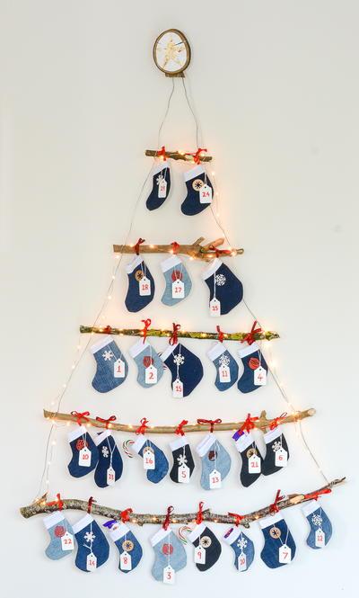 7daf929ab How to Make a Denim Mini Stocking Advent Calendar