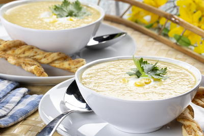 Summers Best Chilled Corn Soup