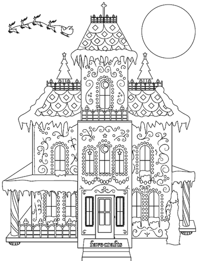 - Breathtaking Gingerbread House Coloring Page PDF FaveCrafts.com