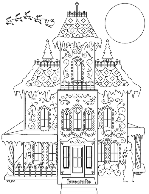 Breathtaking Gingerbread House Coloring Page PDF