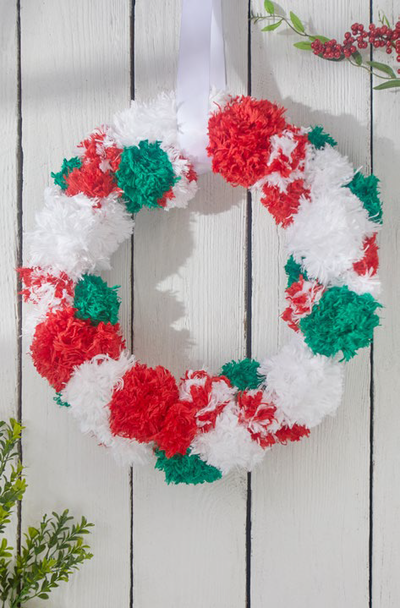 Modern Yarn Christmas Wreath