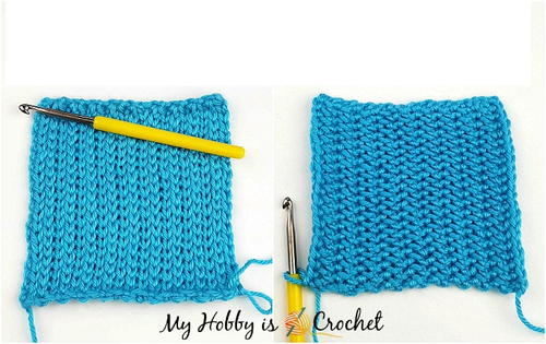e483f32c5 How to Crochet knit alike Stockinette Stitch