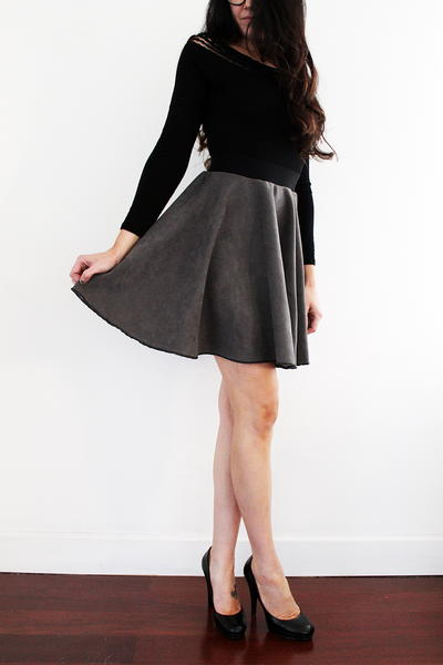 How to Make a Suede Circle Skirt