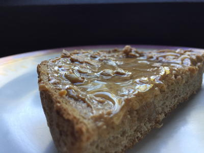 Peanut Butter and Honey on Wholemeal Bread