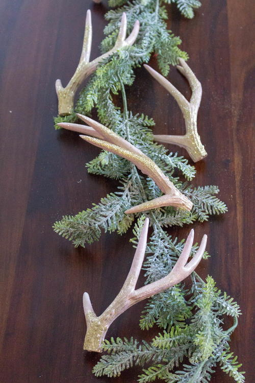 Glitter Antlers Christmas Tablescape