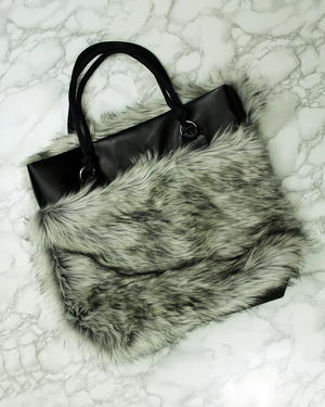 Easy Leather And Fur Reversible Tote Bag