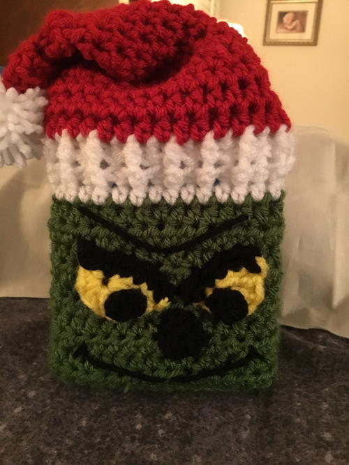 Grinch Tissue Box Cover