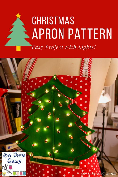 Mrs Santa, Christmas Apron Pattern -an Easy Project with Lights: