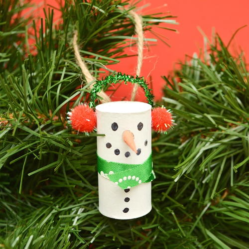 Snowman Wine Cork Ornaments