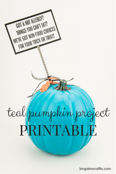Teal Pumpkin Project - FREE Printable