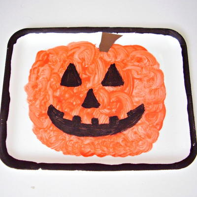 Pumpkin Painting in a Frame