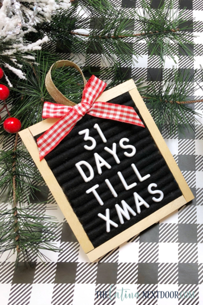DIY Letter Board Countdown to Christmas Ornament