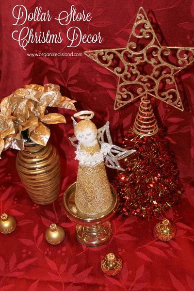 Dollar Store Christmas Decor