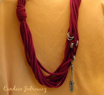 Easy Tee Shirt Necklace Tutorial