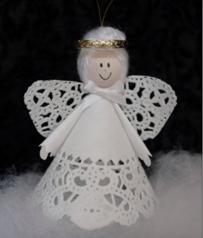 How to Make a Paper Doily Angel
