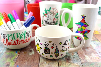 DIY Sharpie Mugs Gift Ideas