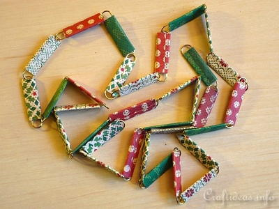 Paper Clip Christmas Tree Garland
