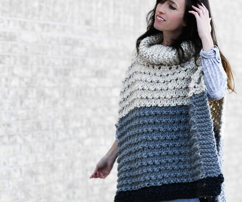 Vail Poncho Knitting Pattern