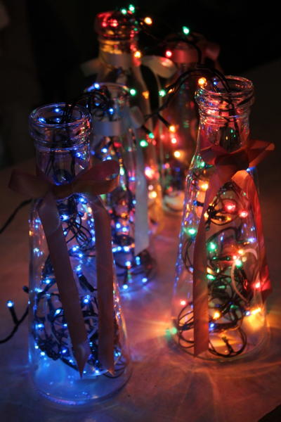 Bottle Lamps Magical Party Decor Idea