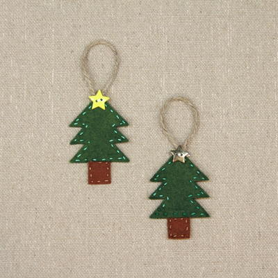 Hand-Sewn Felt Christmas Tree Ornament